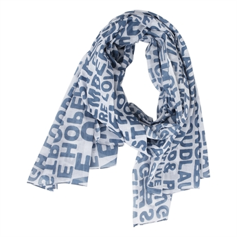 Picture of Scarf Charlotte, white/blue