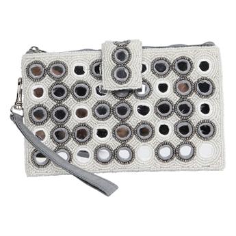Picture of Mini clutch Calliope, white/grey
