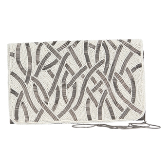 Picture of Clutch bag Cecilia, ivory/grey
