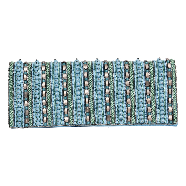 Picture of Clutch bag Mabel, turquoise.