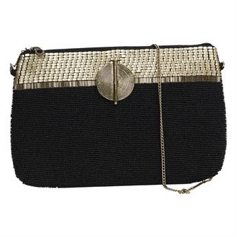 Picture of Clutch bag Victoria, black/gold