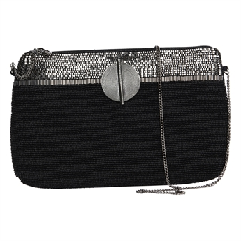 Picture of Clutch bag Victoria, black/silver