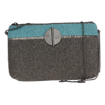 Picture of Clutch bag Victoria, turquoise