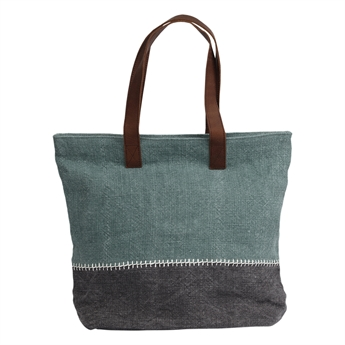 Picture of Shoulder bag Mary, duck egg/cement