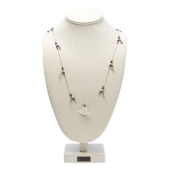 Picture of Necklace Pia, gold/grey