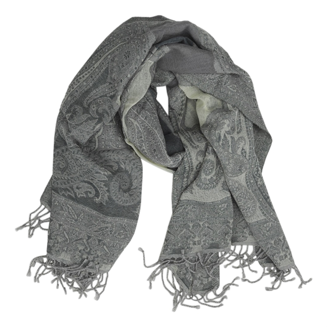 Picture of Scarf Adele, lt grey