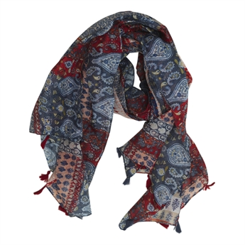 Picture of Scarf Elizabeth, red/blue