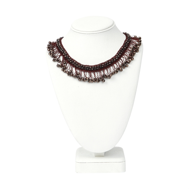 Picture of Necklace Adelyn, burgundy