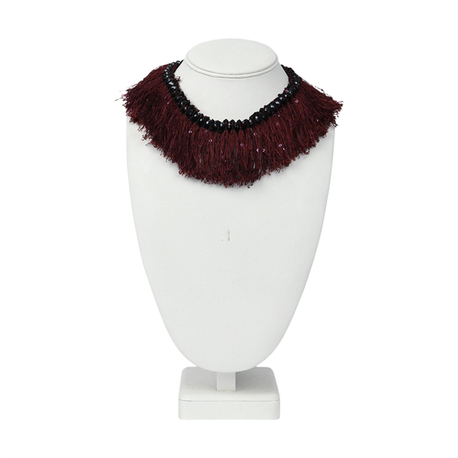 Picture of Necklace Trinity, burgundy