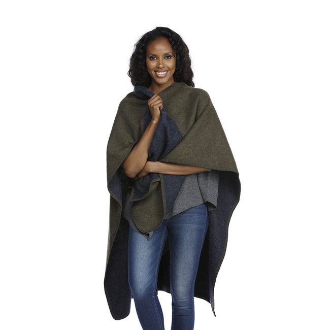 Picture of Poncho Donna, green