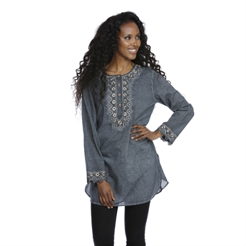 Picture of Tunic Alexandra, black/gold