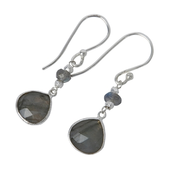 Picture of Earring Gill, silver plated labradorite