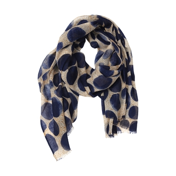 Picture of Scarf Amelia, beige/navy