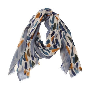 Picture of Scarf Olivia, grey/navy/mustard