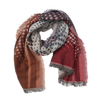 Picture of Scarf Claire, grey/red