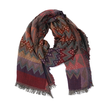 Picture of Scarf Ellie, grey/red