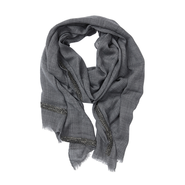 Picture of Scarf Angelina, dk grey