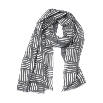 Picture of Scarf Alina, dk grey/silver