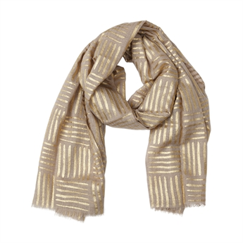 Picture of Scarf Alina, beige/gold