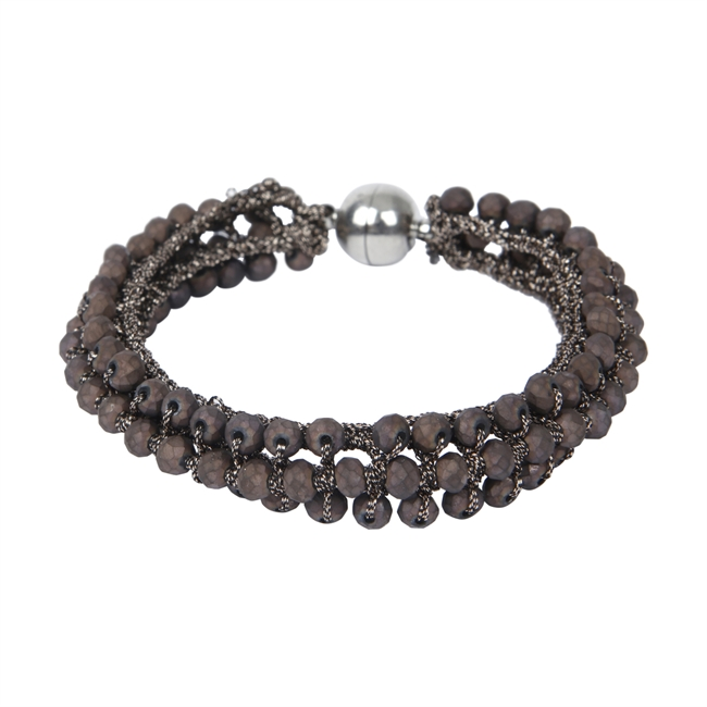 Picture of Bracelet Adelyn, matte brown