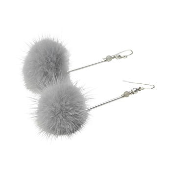Picture of Earring Daisy, grey