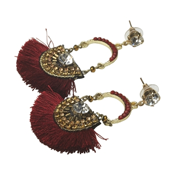 Picture of Earring Betty, burgundy