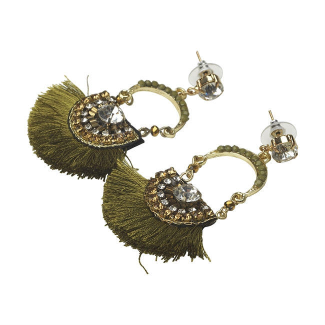 Picture of Earring Betty, olive