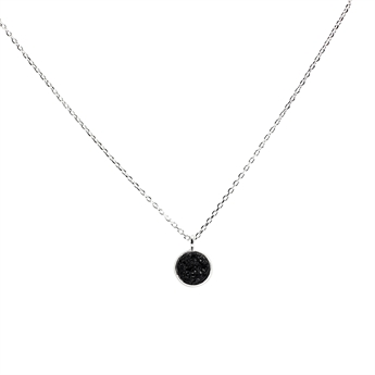 Picture of Necklace Lucia, black/silver plated