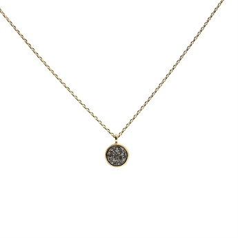 Picture of Necklace Lucia, grey/gold plated