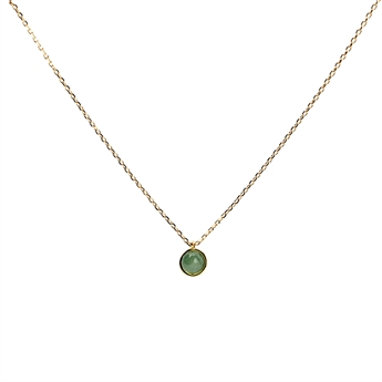 Picture of Necklace Gianna, green quartz/gold plated