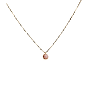 Picture of Necklace Gianna, pink opal/gold plated