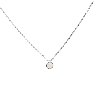 Picture of Necklace Gianna, rainbow moonstone/silver plated