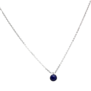 Picture of Necklace Gianna, sapphire/silver plated