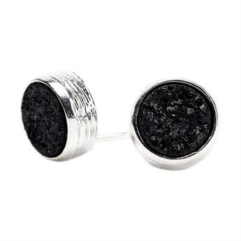 Picture of Earring Lucia, black/silver plated