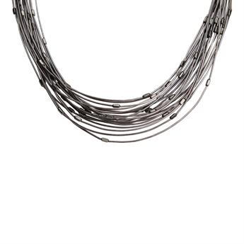 Picture of Necklace Josephine, gun metal