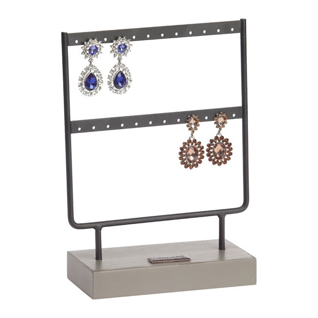 Picture of Earring display S, black metal/grey wood