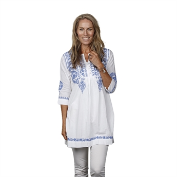 Picture of Tunic Isabel, white/blue