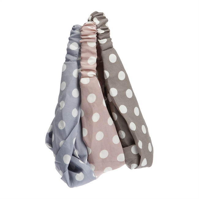 Picture of Hairband Poppy, lt blue/lt pink/grey