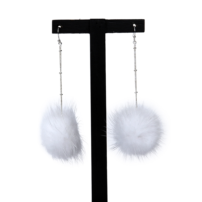 Picture of Earring Pom, white