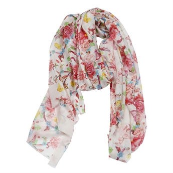Picture of Scarf Alessandra, pink multi
