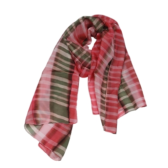 Picture of Scarf Francesca, red/olive