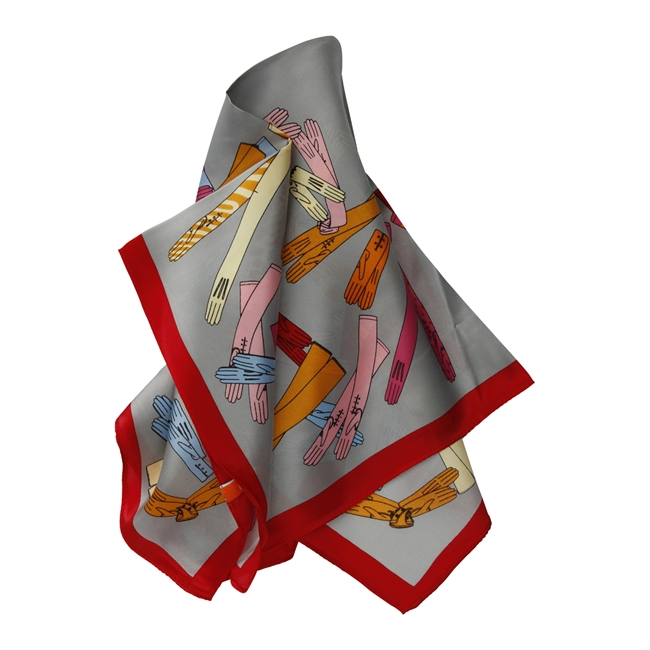 Picture of Mini scarf Daniela, grey mix