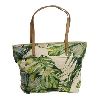 Picture of Shoulder bag Monstera, beige/green.