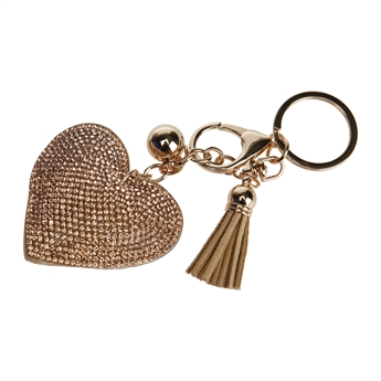 Picture of Keychain/Bag charm Madisson, champagne