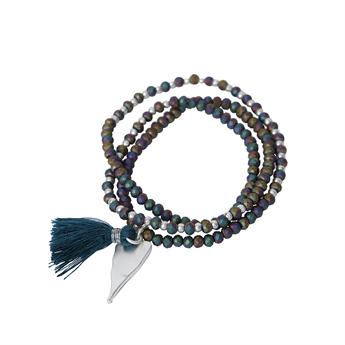 Picture of Bracelet/necklace Lotta, petrolium