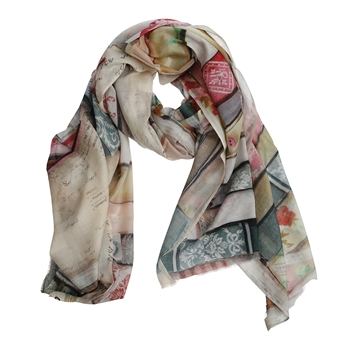 Picture of Scarf Joy, pink multi