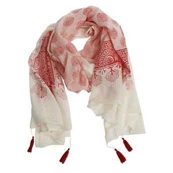 Picture of Scarf Elisa, coral red