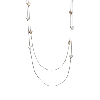 Picture of Necklace Sara, silver/rose gold