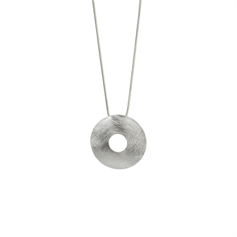 Picture of Necklace Kinley, broshed silver