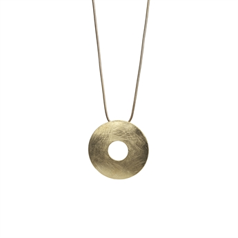 Picture of Necklace Kinley, broshed gold